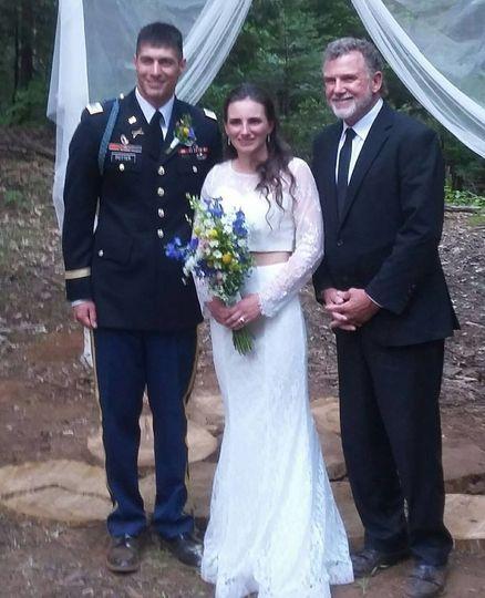 A military wedding