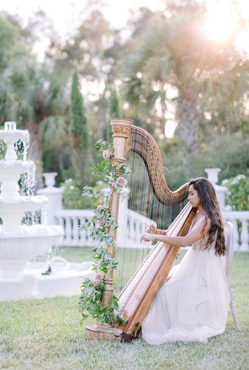 Solo Harp at La Casa Toscana