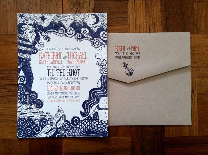 LOUIE Award winning wedding invitation