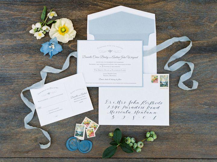 Dainty blue invites