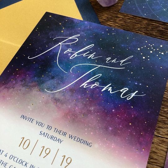 Gold foil star signs