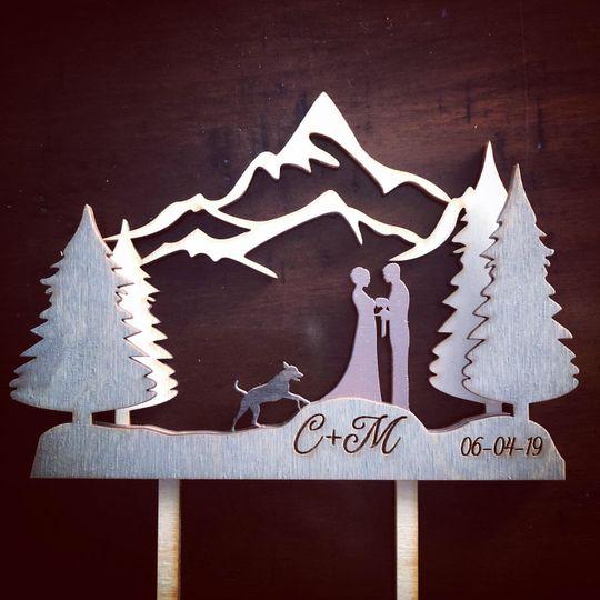 Mountain cake topper