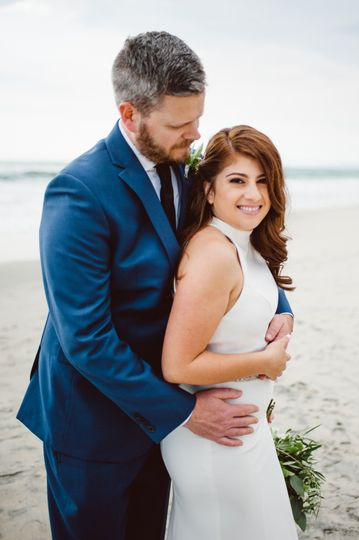 Bride and Groom beach photo