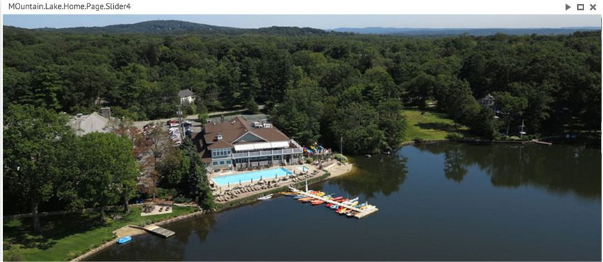Aerial shot of the club