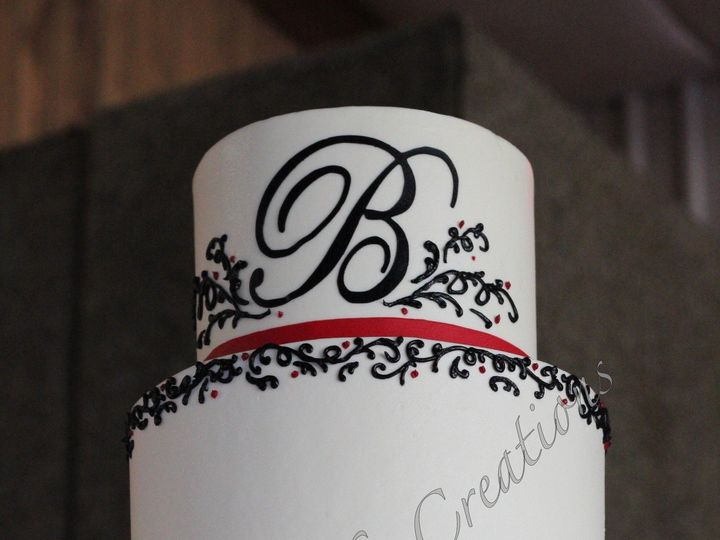 Tmx 1378778830883 Rszbmonogramweddingcake Fuquay Varina, North Carolina wedding cake
