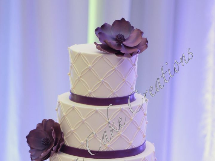 Tmx 1378783312248 Rszlapiscolorflowerweddingcake Fuquay Varina, North Carolina wedding cake