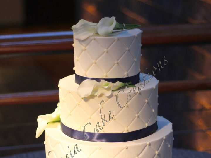 Tmx 1385343680386 Rszquiltedweddingcake1226 Fuquay Varina, North Carolina wedding cake