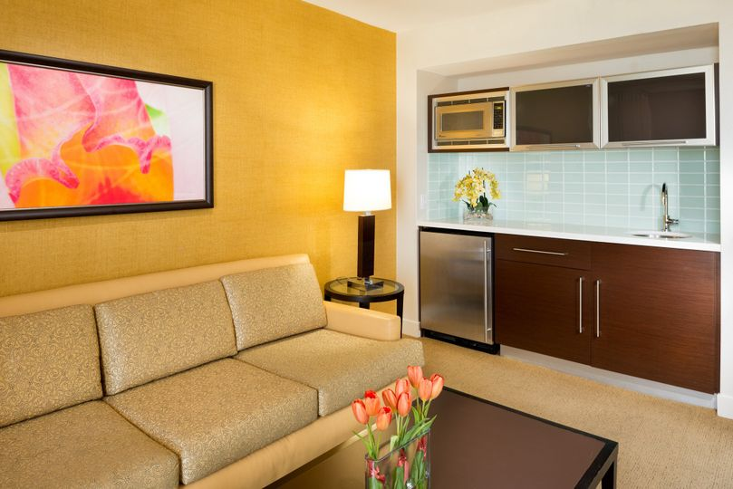 Hilton Waikiki Beach: Our Parlor suites provide some extra entertainment space to your...