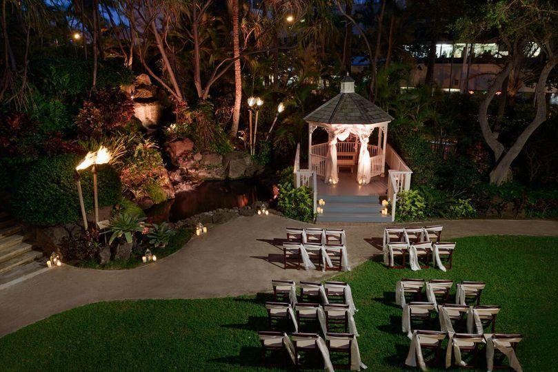 Hilton Waikiki Beach:  Our Garden Gazebo is idea for ceremonies or receptions.