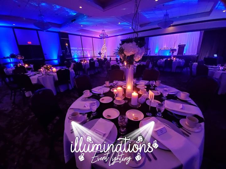Ballroom Up-Lighting