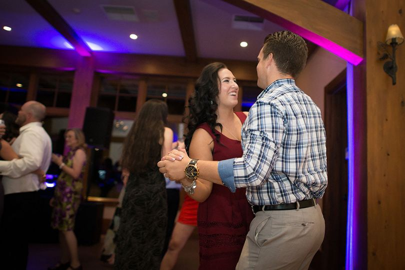 Slow dance at the reception