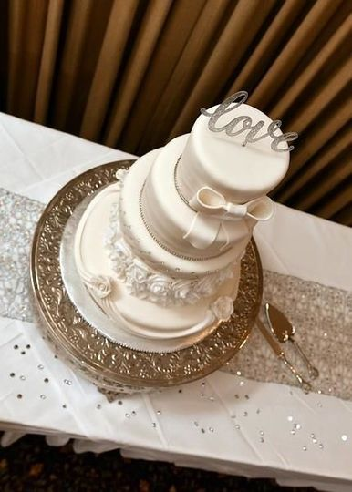 5 Tier Fondant Bling Wedding Cake.