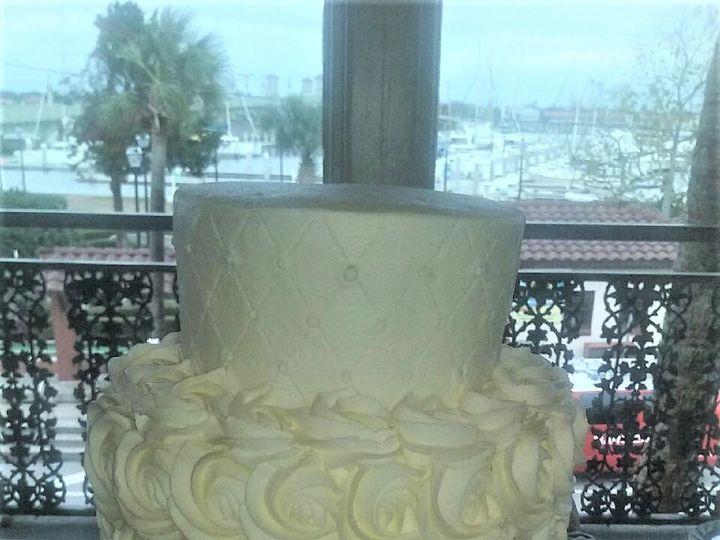 Tmx 1483851023336 Rossette Wedding Cake1 Jacksonville, FL wedding cake