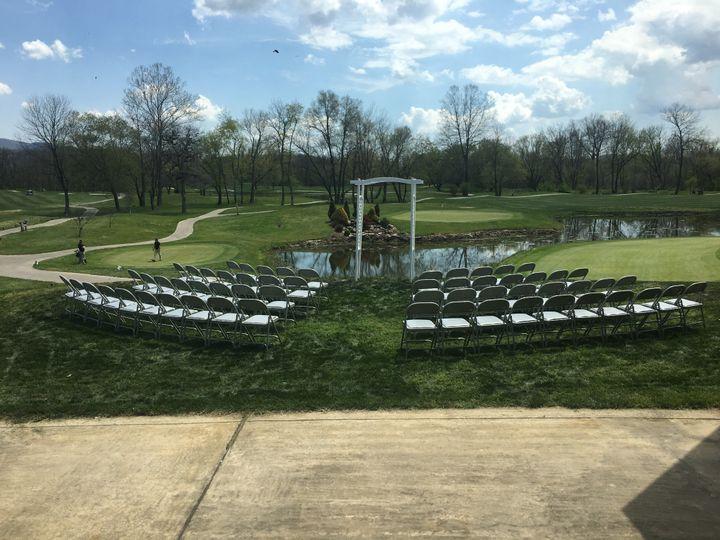 Outdoor ceremony arrangement