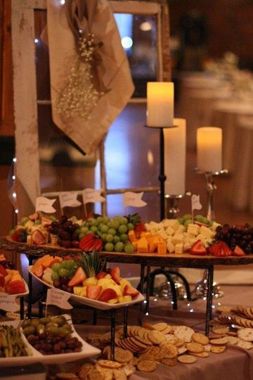 Southern Chic Fruit & Cheese Display