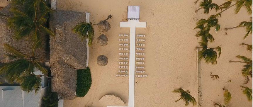 Aerial setup ceremony