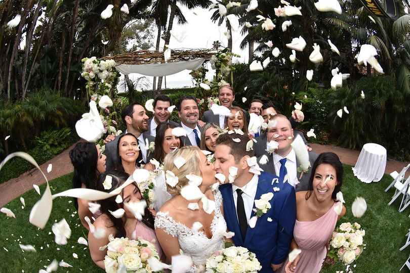 Love to throw petals on the wedding party.