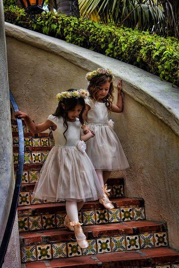Sweet little flower girls.