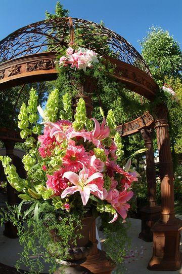 Ceremony flowers. Westlake Village Inn.