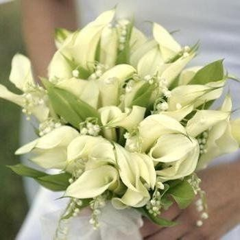 Calla Lily and Lily of the valley Bouquet