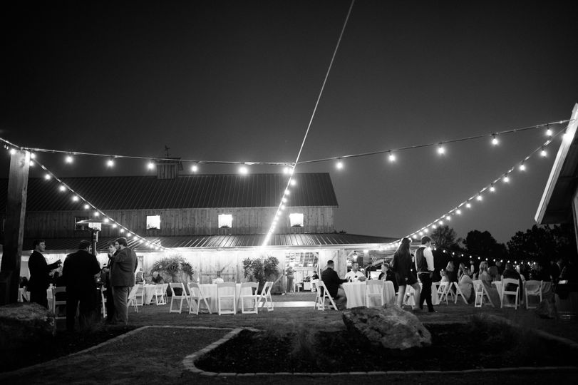 Reception under the lights