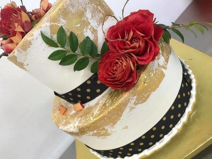 Tmx 1524701925 Ec2ffcac60f8a4d5 1524701924 38cb9120419080bf 1524701920500 11 Goldleaf Wedding  Lincoln City wedding cake