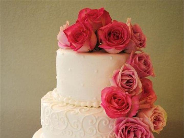 Tmx 1282243138470 Pinkrosecascadeweddingcake Springtown, TX wedding cake