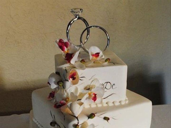 Tmx 1324576338987 MistysOrchidWeddingcake Springtown, TX wedding cake