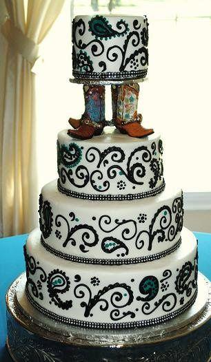 Tmx 1343922457906 OrchardBootCakePaisleyTurq Springtown, TX wedding cake