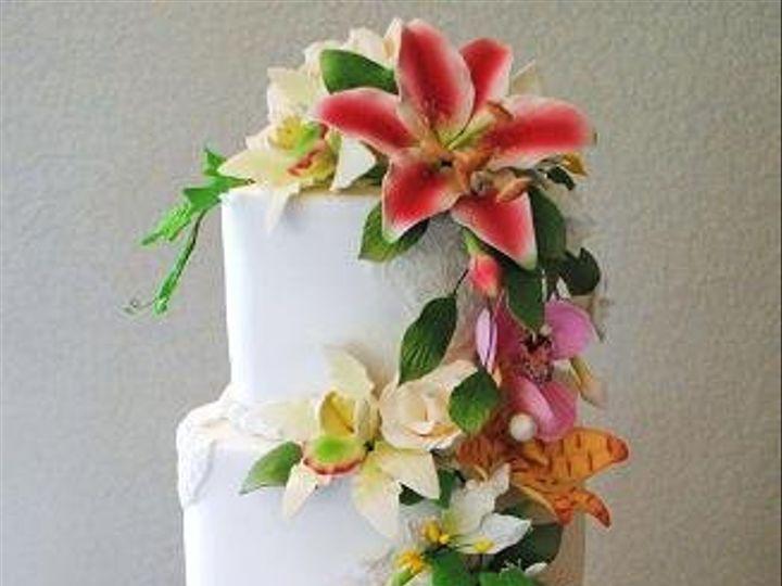 Tmx 1343923023582 Gumpaste5tierweddingcake Springtown, TX wedding cake