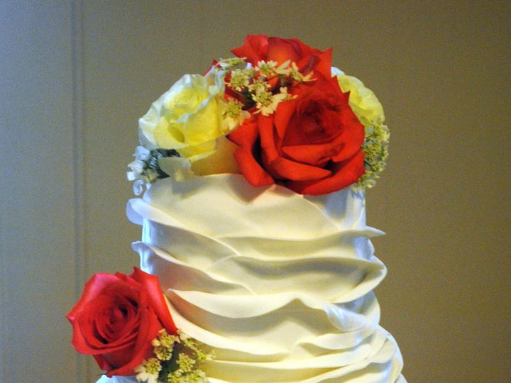 Tmx 1435010369367 Fondantruffleweddingcake Springtown, TX wedding cake