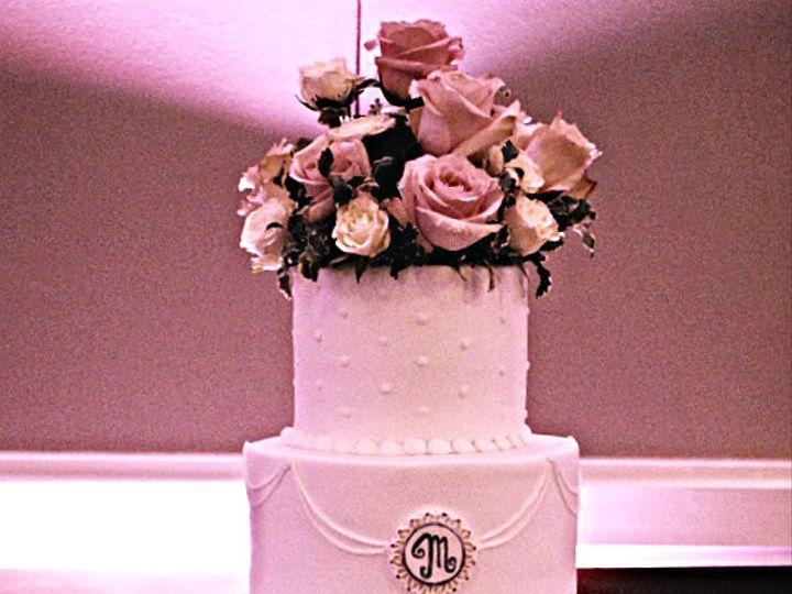 Tmx 1454432650584 Pinkrosequiltandscrollscake Springtown, TX wedding cake