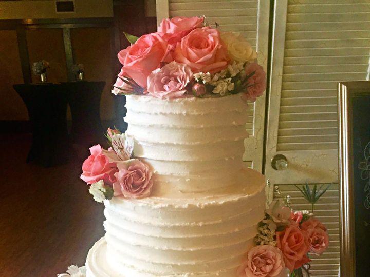 Tmx 1454432657231 Ribbedcoralweddingcake Springtown, TX wedding cake