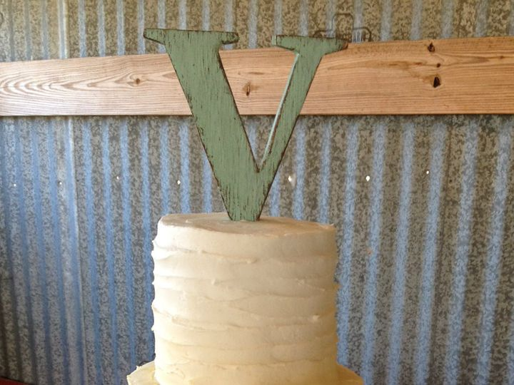 Tmx 1454432665623 Rusticombreweddingcake Springtown, TX wedding cake