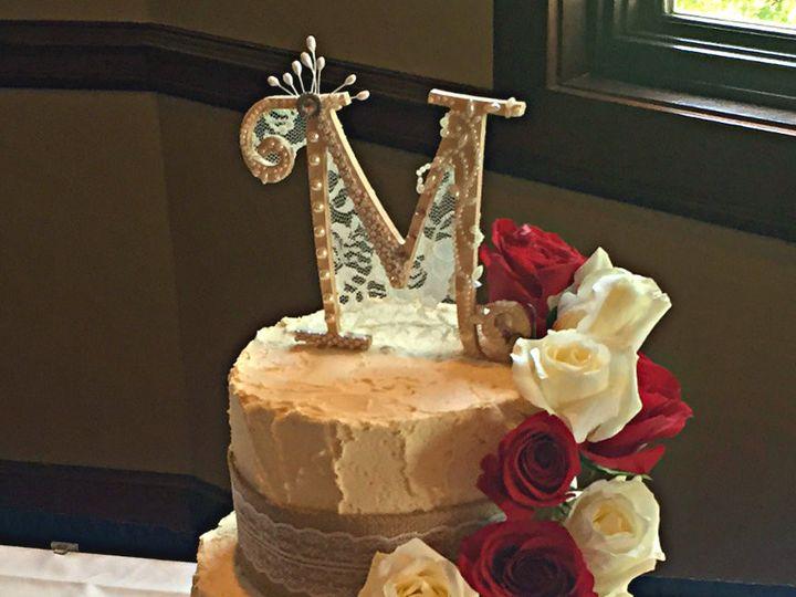 Tmx 1454432688687 Vintageredroseweddingcake Vintageroseweddingcake Springtown, TX wedding cake