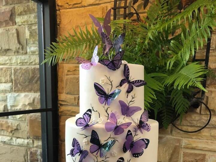 Tmx 1531423101 Db879e02b521aec9 1531423100 8102733a8e25bb7f 1531423097666 2  Purplebutterflywe Springtown, TX wedding cake