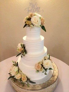 Tmx 1531423102 24a79b69a2b330f2 1531423100 7ede74b8134f6ce0 1531423097668 3  Whiteroseribbedwe Springtown, TX wedding cake