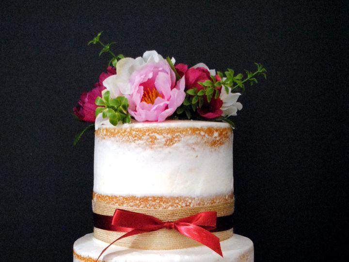 Tmx 1531423195 2dd38c4de489bc17 1531423194 21bee0205ac71cf5 1531423183310 4  Burgandyandpinkna Springtown, TX wedding cake