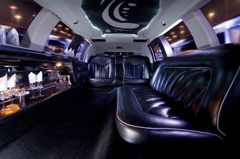 Stretch limousines interior