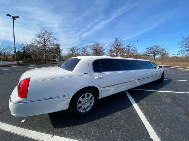 Back of limousine