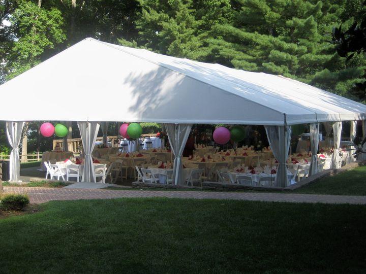 Outdoor tent set-up