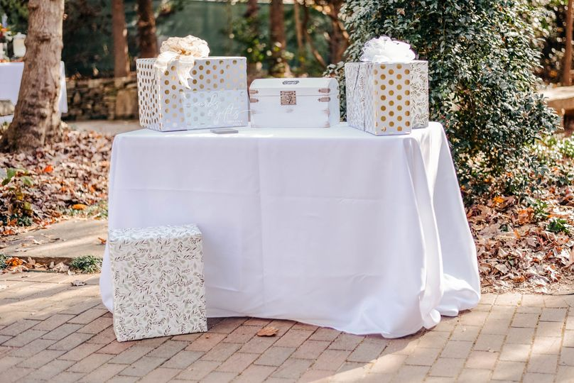 Pop-up Wedding Gift Table