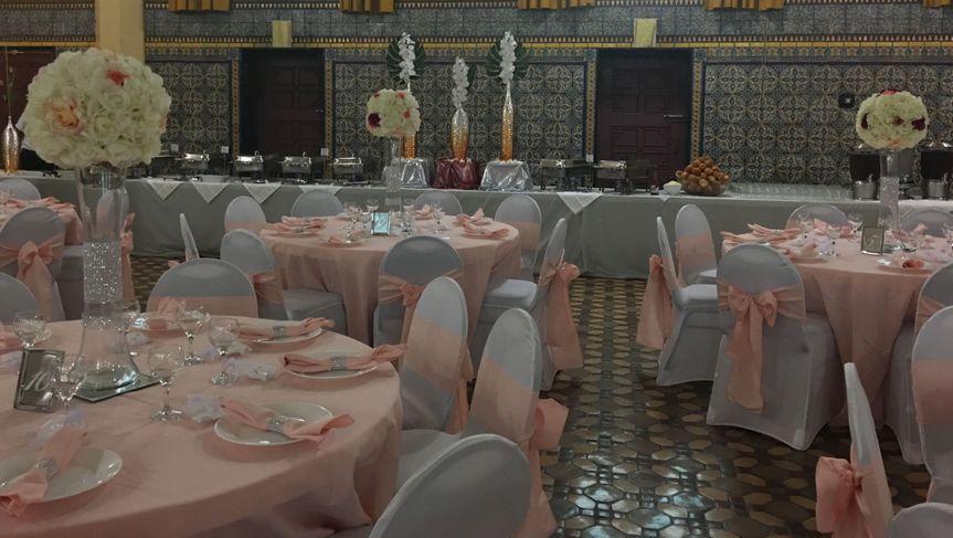 Reception hall setup