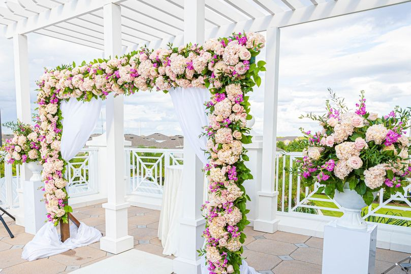 Ceremony Arch on Terrace