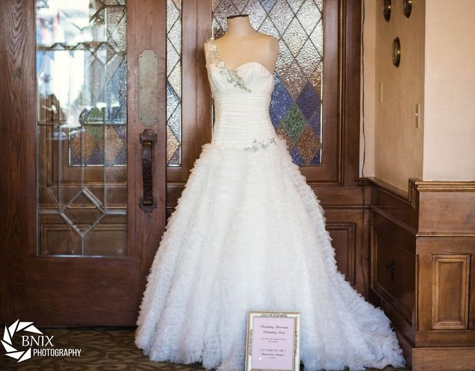 A beautiful gown from Something Borrowed Something New in Birch Run!