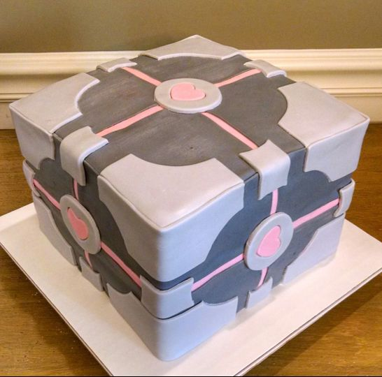 Companion Cube Groom's Cake