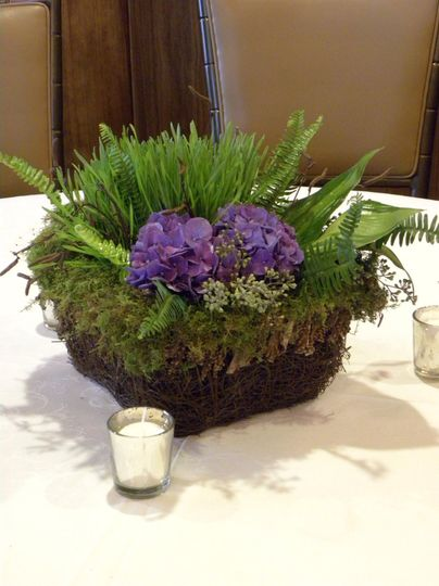 Grass and flower arrangement