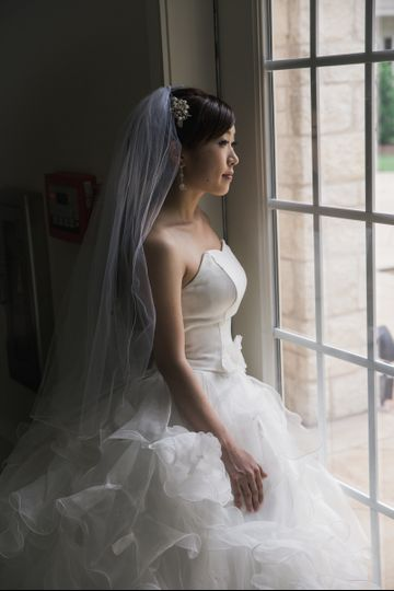 Bride's reflection time