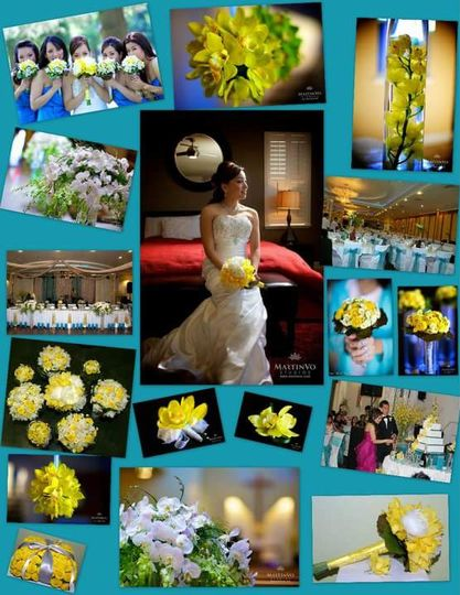 Yellow and turquoise theme