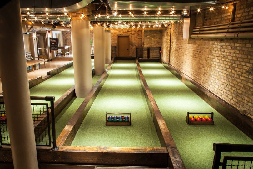 Bocce for cocktail hour